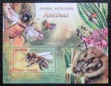 Poštovní známka Svatý Tomáš 2013 Včely Mi# Block 872 Kat 10€