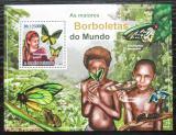 Poštovní známka Svatý Tomáš 2010 Motýli Mi# Block 782 Kat 12€