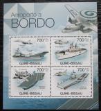 Poštovní známky Guinea-Bissau 2012 Letadlové lodě Mi# 5897-5900 Kat 11€