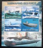 Poštovní známky Guinea-Bissau 2012 Ponorky Mi# 5972-75 Kat 9.50€