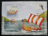 Poštovní známka Mosambik 2009 Historické plachetnice Mi# Block 234 Kat 10€