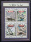 Poštovní známky Sierra Leone 2016 Historické plachetnice Mi# 7728-31 Kat 11€