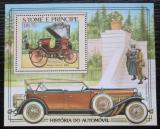 Poštovní známka Svatý Tomáš 1983 Historické automobily Mi# Block 137 A Kat 13€