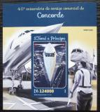 Poštovní známka Svatý Tomáš 2016 Concorde Mi# Block 1168 Kat 12€
