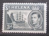 Poštovní známka Svatá Helena 1940 Plachetnice, znak kolonie Mi# 103