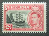 Poštovní známka Svatá Helena 1949 Plachetnice, znak kolonie Mi# 121