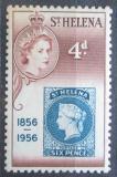 Poštovní známka Svatá Helena 1956 První známky, 100. výročí Mi# 137