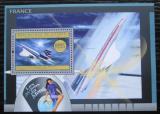 Poštovní známka Guinea 2012 Francouzská letadla Mi# Block 2176 Kat 16€