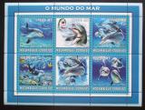 Poštovní známky Mosambik 2002 Delfíni Mi# 2686-91 Kat 12€