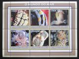 Poštovní známky Mosambik 2002 Medúzy Mi# 2578-83 Kat 12€