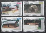 Poštovní známky Gabon 1996 Tradiční bydlení Mi# 1335-38