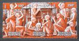 Poštovní známky Burundi 1993 Vánoce Mi# 1790-92 Kat 7€
