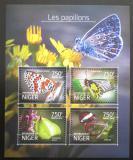 Poštovní známky Niger 2014 Motýli Mi# 3174-77 Kat 12€