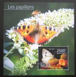Poštovní známka Niger 2014 Motýli Mi# Block 379 Kat 10€