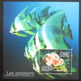 Poštovní známka Niger 2014 Ryby Mi# Block 380 Kat 10€