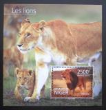 Poštovní známka Niger 2014 Lvi Mi# Block 384 Kat 10€