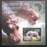 Poštovní známka Niger 2014 Ohrožená fauna Mi# Block 386 Kat 10€