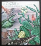 Poštovní známka Burundi 2012 Kaktusy a fauna neperf. Mi# Block 274 B