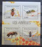 Poštovní známky Burundi 2012 Včely Mi# 2768-71 Kat 10€