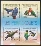 Poštovní známky Burundi 2012 Papoušci Mi# 2813-16 Bogen Kat 10€