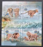 Poštovní známky Burundi 2012 Lvi Mi# 2828-31 Kat 10€