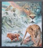 Poštovní známka Burundi 2012 Lvi Mi# Block 290 Kat 9€