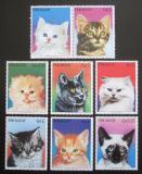 Poštovní známky Paraguay 1984 Kočky s kupónem Mi# 3811-17