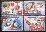 Poštovní známky Niger 2016 Jurij Gagarin Mi# 4057-60 Kat 14€