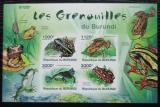 Poštovní známky Burundi 2011 Žáby neperf. Mi# Block 162 B