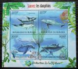 Poštovní známky Burundi 2012 Delfíni Mi# 2610-13 Kat 9.50€