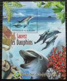 Poštovní známka Burundi 2012 Delfíni Mi# Block 246 Kat 9€