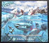 Poštovní známky Burundi 2012 Žralok bílý Mi# 2550-53 Kat 10€