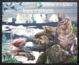 Poštovní známka Burundi 2012 Žralok bílý a tuleni Mi# Block 234 Kat 9€