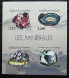 Poštovní známky Burundi 2012 Minerály neperf. Mi# 2733-36 B