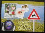 Poštovní známka Mosambik 2014 Boj proti malárii Mi# Block 967 Kat 10€