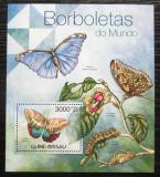 Poštovní známka Guinea-Bissau 2012 Motýli Mi# Block 1040 Kat 12€