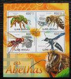 Poštovní známky Guinea-Bissau 2012 Včely Mi# 5982-85 Kat 10€