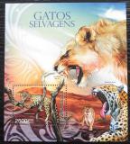 Poštovní známky Guinea-Bissau 2012 Kočkovité šelmy Mi# Block 1080 Kat 10€