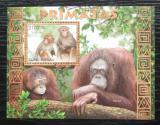 Poštovní známka Guinea-Bissau 2012 Opice Mi# Block 1100 Kat 12€