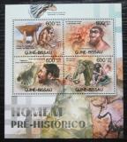 Poštovní známky Guinea-Bissau 2012 Pravěcí lidé Mi# 5977-80 Kat 9.50€
