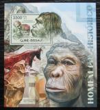 Poštovní známka Guinea-Bissau 2012 Pravěcí lidé Mi# Block 1058 Kat 13€