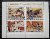 Poštovní známky Guinea-Bissau 2010 Skalní malby v Lascaux Mi# 4920-23 Kat 14€