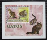 Poštovní známka Guinea-Bissau 2007 Kočky DELUXE Mi# 3586 Block