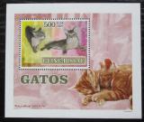 Poštovní známka Guinea-Bissau 2007 Kočky DELUXE Mi# 3587 Block