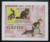 Poštovní známka Guinea-Bissau 2007 Kočky DELUXE Mi# 3588 Block