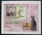 Poštovní známka Guinea-Bissau 2007 Kočky DELUXE Mi# 3589 Block