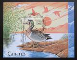 Poštovní známka Kambodža 1997 Čírka sibiřská Mi# Block 227