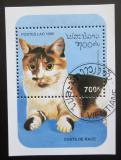 Poštovní známka Laos 1995 Kočka Mi# Block 154