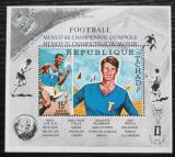 Poštovní známka Čad 1970 LOH Mexiko a MS ve fotbale Mi# Block 8 A