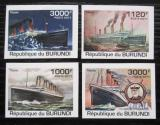 Poštovní známky Burundi 2011 Titanic neperf. Mi# 2170-73 B